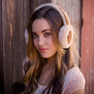 Bluetooth 100% Wool Earmuff Headphones with Mic