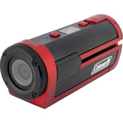 Xtreme Sports Full HD 1080p Waterproof Helmet Video Camera (Red)