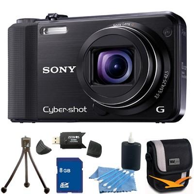 Cyber-shot DSC-HX7V Black Digital Camera 8GB Bundle