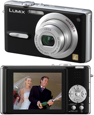 DMC-FX9 (Black) Lumix Ultra-Compact 6 MP Digital Camera w/ 2.5` LCD - OPEN BOX