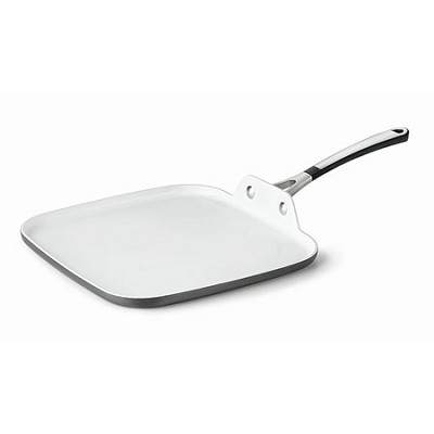 1873399 Hard-Anodized Ceramic Nonstick Square Griddle, 11`