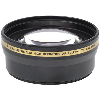 Pro 2x Telephoto Lens Converter - 58mm threading (Black)