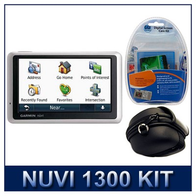 nuvi 1300 North America City GPS Total Care Kit with Case and Cleaning Kit