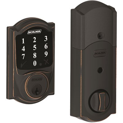 BE468CAM716 Connect Camelot Touchscreen Deadbolt, Bronze