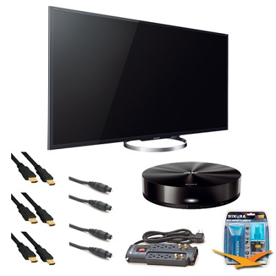 XBR-55X850A 55-Inch 4K Ultra HD 120Hz 3D LED HDTV Media Player Bundle