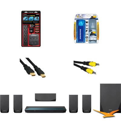 BDVE2100 - Blu-ray Disc Theater System with HookUp Bundle