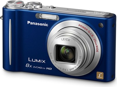 LUMIX 14.1 MP Digital Camera with 10x Intelligent Zoom (Blue) - OPEN BOX