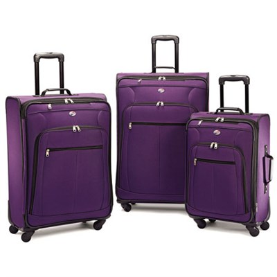 Pop Plus 3 Piece Nested Spinner Luggage Set (Purple) - 64590-1717