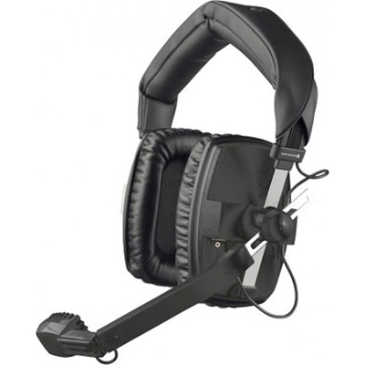 DT-109-200-400-BLACK Closed Headset with Dynamic Hypercardioid Microphone