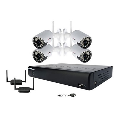 Eco Stratus Cloud 8 ch 500GB DVR with 4 In/Outdoor Night Vision Cameras