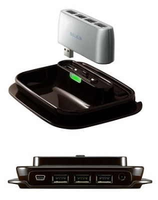 2-N-1 USB 2.0  7-Port Hub-To-Go
