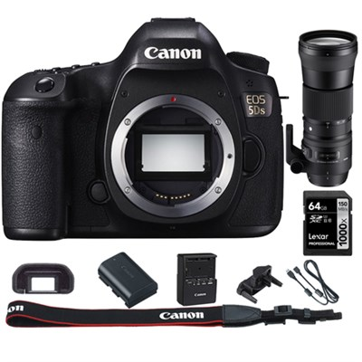 EOS 5DS 50.6MP Digital SLR Camera (Body) + 150-600mm HSM Zoom Lens Kit