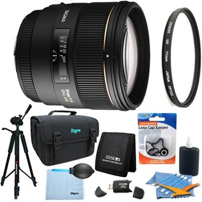 85mm F1.4 EX DG HSM Lens for Pentax AF Lens Kit Bundle