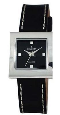 315BK Ladies GeoMetric Square Leather Watch