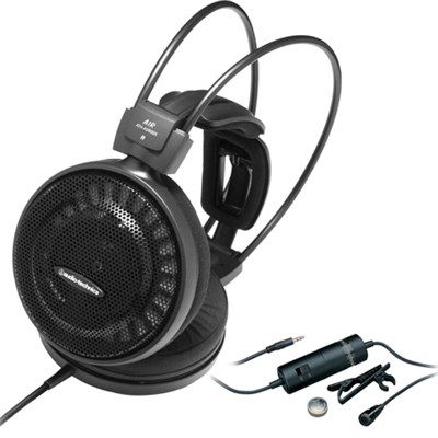 Audiophile Open-Air Headphones - AD500X with Audio Technica Clip On Microphone