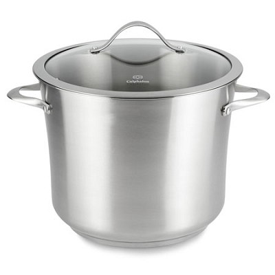 12-qt. Contemporary Stainless Dishwasher Safe Stock Pot - LR8612P