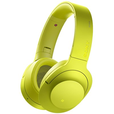 MDR100 h.Ear on Wireless NC On-Ear Bluetooth Headphones w/ NFC - Lime Yellow
