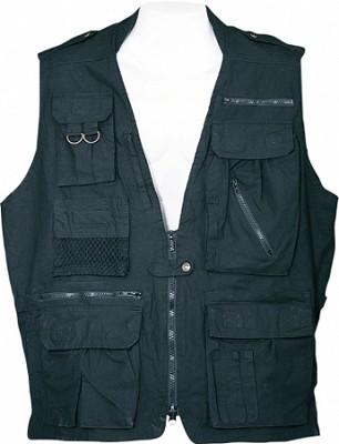 Safari Vest - Black, X Small