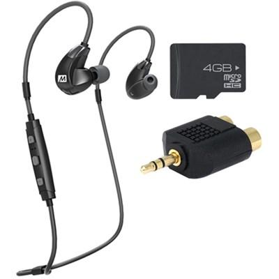 X7 Plus Stereo Bluetooth Wireless Sports In-Ear Headphones & Memory Card Bundle