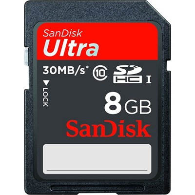 8GB Ultra SDHC  UHS-I Card 30MB/s (Class 10)