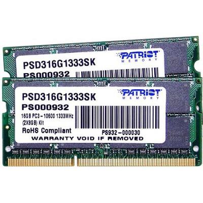 Signature 16GB 1333MHZ DDR3 SDIMM Kit