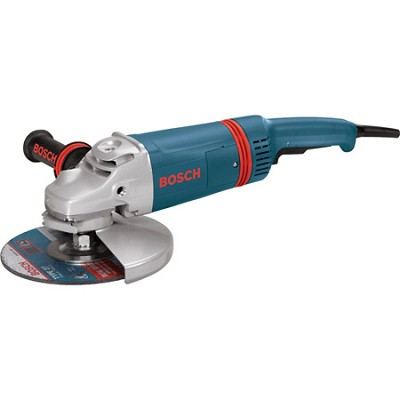 9` Large Angle 6000 RPM Grinder with Rat Tail Handle and Guard