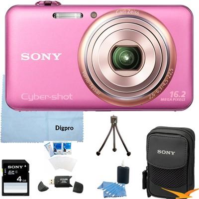 DSC-WX70/P - 16.2MP Exmor R CMOS Camera 3.0` LCD 5x Zoom (Pink) 4GB Bundle