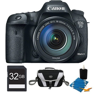 EOS 7D Mark II Digital SLR Camera with 18-135mm IS STM Lens 32GB Bundle