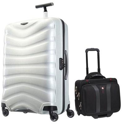 30` Black Label Firelite Spinner (Off White) + Wenger Laptop Boarding Bag