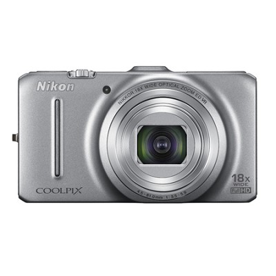 COOLPIX S9300 16MP 18x Opt Zoom 3.0 LCD Digital Camera - Silver