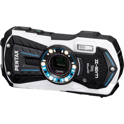 Optio WG-2 White GPS-enabled Waterproof Shockproof Crushproof Digital Camera