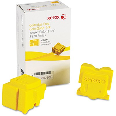 ColorQube 8570/8580 Yellow Solid Ink Pack (2 Sticks) - 108R00928
