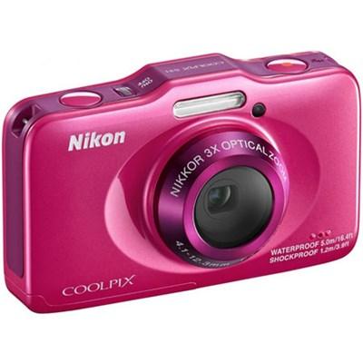COOLPIX S31 10.1MP 720p HD Video Waterproof Digital Camera, Pink, Refurbished