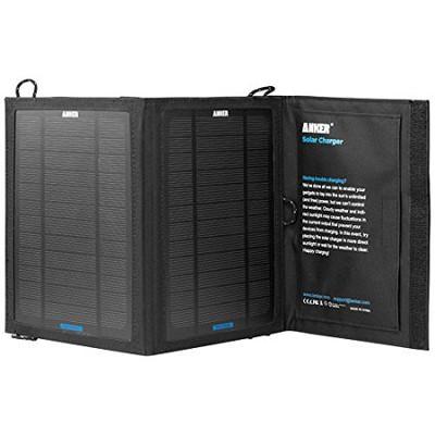 Solar Charging Panel Black 8W 5V PowerIQ Version - 71ANSCP-B85A