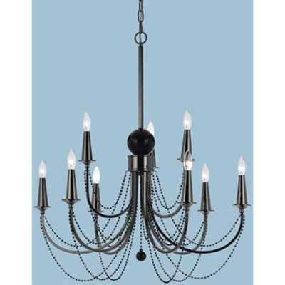 Shelby Metal Nine Candle Base Chandelier - 8449-9H