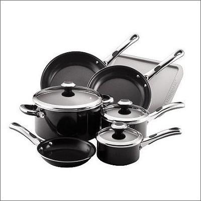 Classic 10-Piece Cookware Set, Black