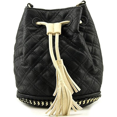 Hankie Drawstring Crossbody - Black