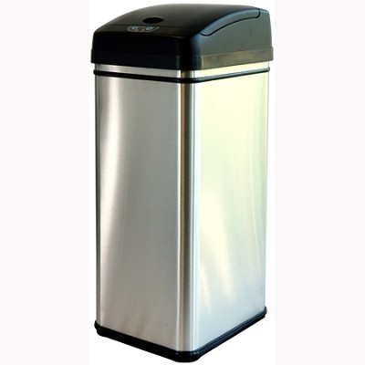Deodorizer 13 Gallon Automatic Touchless Trash Can w/ Carbon Filter (DZT13P)