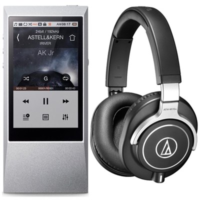 AK Jr. Hi-Res 64GB Music Player with ATH-M70x Monitor Headphone Bundle
