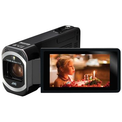JVC HD Everio Camcorder 3` Touchscreen 10x Zoom f1.2 Wifi (Black) - ***AS IS***