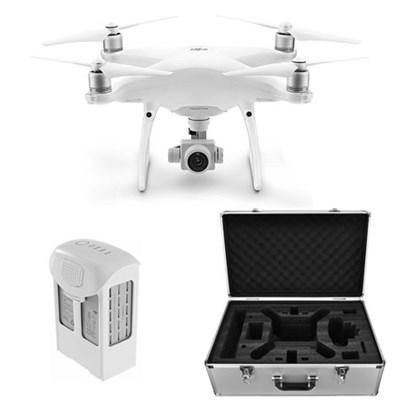 Phantom 4 Advanced Quadcopter Drone 2nd Battery +  Case Bundle CP.PT.000689