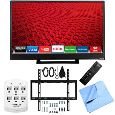 E28h-C1 - 28-Inch 60Hz 720p Smart HDTV Slim Flat Wall Mount Bundle