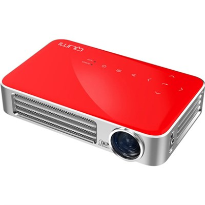 Qumi Q6 800 Lumen WXGA 720p HD LED Wireless Pocket Projector - Red