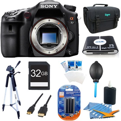 SLTA77V - a77 Digital SLR 24.3 MP Body Bundle