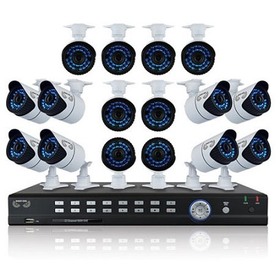 32 Channel Full 960H Pro DVR, 2 TB HDD, 16x900 TVL Bullet Cameras