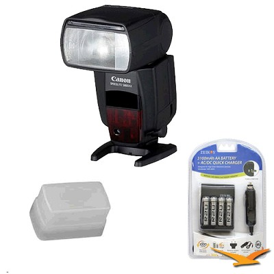 Speedlite 580EX II w/ Hard Flash Diffuser, Batteries and Charger