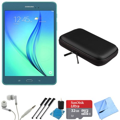 Galaxy Tab A 8-Inch Tablet (16 GB, Smoky Blue) 32GB Memory Card Bundle