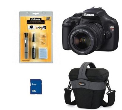 EOS Rebel T3 SLR Digital Camera w/ 18-55mm Lens PRO Photo Enthusiast Kit