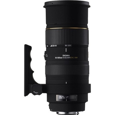 50-500mm F/4-6.3 EX RF HSM DG Telephoto Canon Lens (Factory Refurbished)