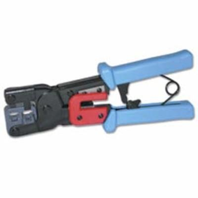 Cables To Go 19579 RJ11/RJ45 Crimping Tool with Cable Stripper (Black/Blue)